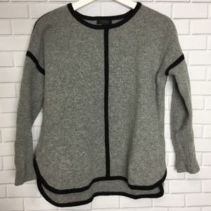 J. Crew Wool Grey Knit Sweater Blouse sz. XS